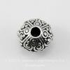 "Бусина - рондель TierraCast ""Оазис"" (цвет-античное серебро) 10х8 мм"