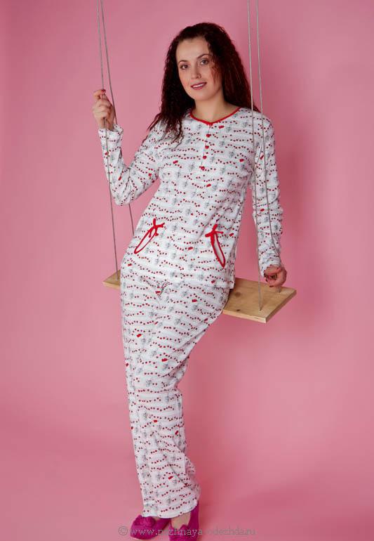 Хлопковая женская пижама Pepita (Домашние костюмы и пижамы)
