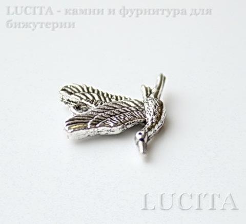 "Подвеска ""Журавль"" 21х14 мм (цвет - античное серебро) ()"