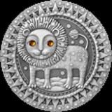 Знаки зодиака. Белорусь, 20 рублей, 2009 год. Лев.
