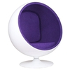 кресло  ball armchair фиолетовое