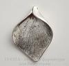 "Подвеска ""Калла"" (цвет - античное серебро) 34х25 мм"