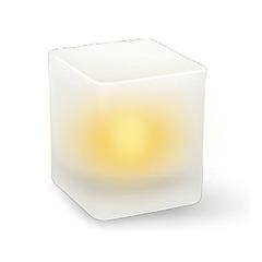 Светод. свеча ERA в стакане B14 (куб)
