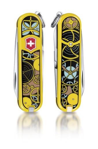 "Нож-брелок Victorinox Classic LE 2014, 58 мм, 7 функ, ""Swiss Clockwork""  (0.6223.L1402)"