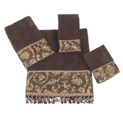 Полотенце 41х76 Avanti Damask Fringe коричневое