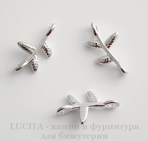 "Коннектор ""Веточка"" (1-1) 17х9 мм (цвет - серебро), ПАРА"