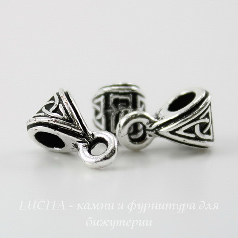 "Бейл TierraCast ""Кельтский узел"" 9х6х5 мм (цвет-античное серебро) ()"
