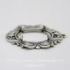 """Сеттинг - основа - подвеска """"Флора"""" для камеи или кабошона 18х13 мм (оксид серебра) ()"""