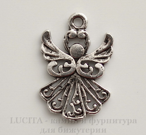 "Подвеска ""Ангел"" (цвет - античное серебро) 20х14 мм"