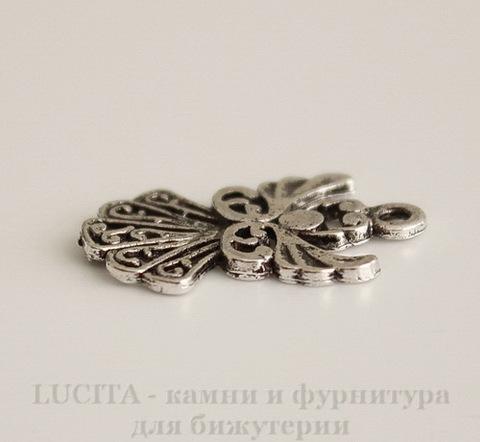 "Подвеска ""Ангел"" 20х14 мм (цвет - античное серебро)"