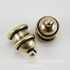 "Концевик для шнура 6 мм TierraCast ""Pagoda"" (цвет-античная латунь) 13х10 мм ()"