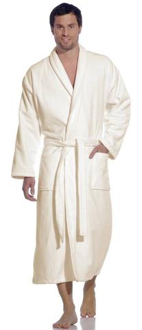 Элитный халат махрово-велюровый Feeling white от Vossen