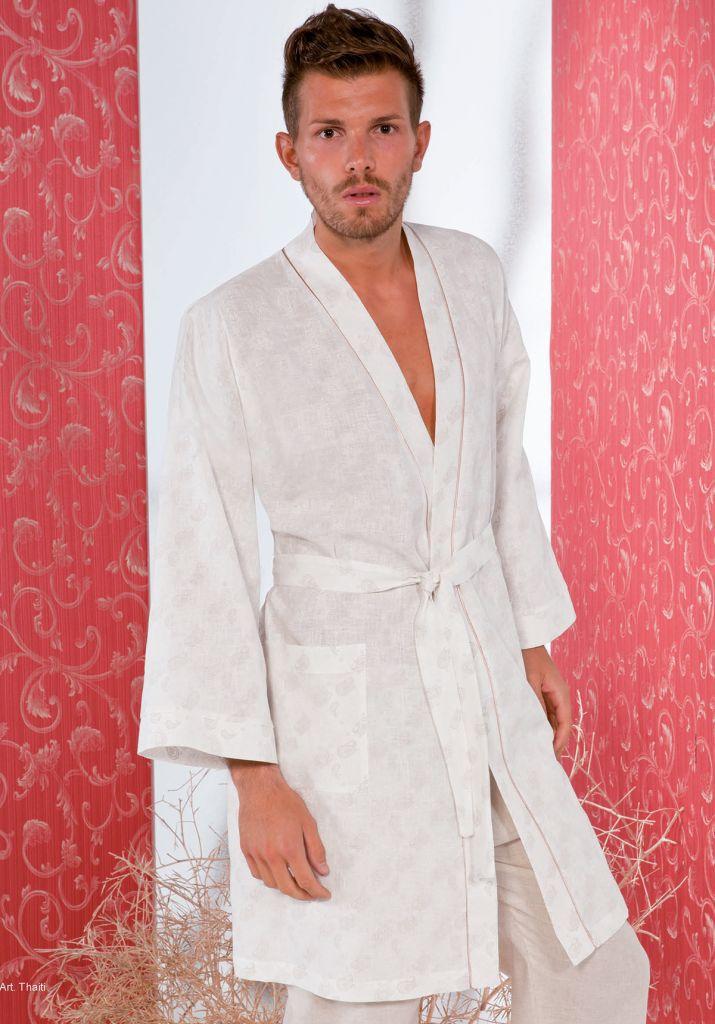 Мужской халат из льна B&B (Мужские халаты)