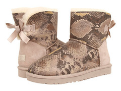 UGG Bailey Bow Mini Snake Sand