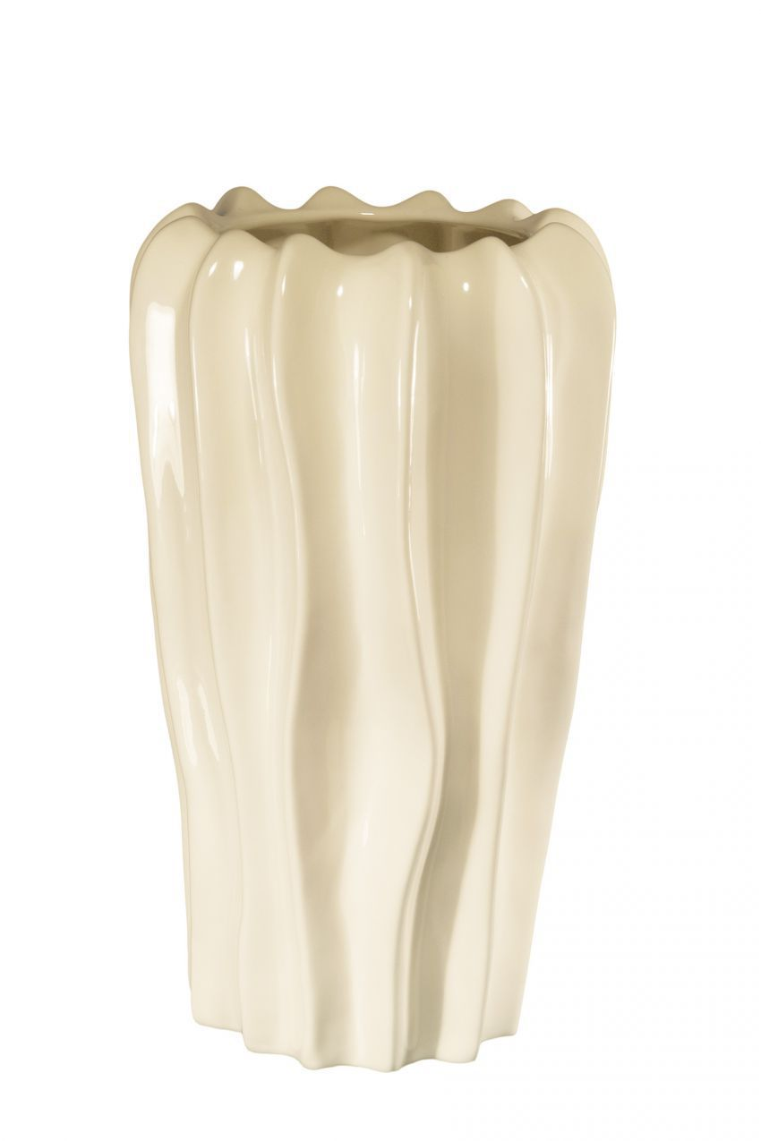 Вазы настольные Элитная ваза декоративная Cream невысокая от Sporvil vaza-dekorativnaya-nevysokaya-cream-ot-sporvil-iz-portugalii.jpg