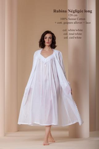 Элитный халат хлопковый Rubina Negligee белый  от Celestine
