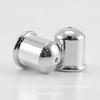 """Концевик для шнура 8 мм TierraCast """"Купол"""" (цвет-платина) 12х11 мм ()"""