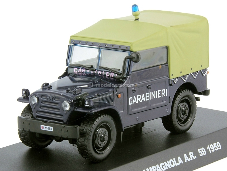 Fiat Campagnola 1959 Italian Carabinieri Police 1:43 DeAgostini World's Police Car Special edition #1