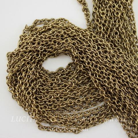 Винтажная цепь (звено 3х2 мм) (оксид латуни), 10 cм ()