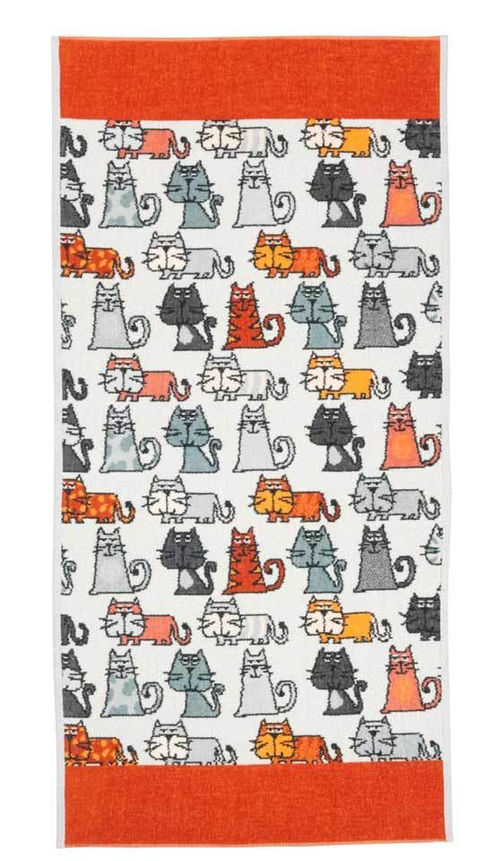 Полотенца Полотенце 37x50 Feiler Cats 167 zimt elitnoe-polotentse-shenillovoe-cats-167-zimt-ot-feiler-germaniya.jpg