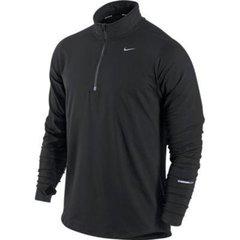 Мужская беговая футболка Nike Element 1/2 Zip LS (504606 010)