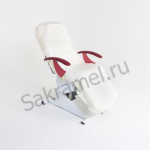 Чехол на кушетку на резинке  (Махра, белый, 210х90 см, 1 шт/упк, штучно)