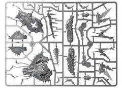 Chaos Space Marine Heldrake. Литник