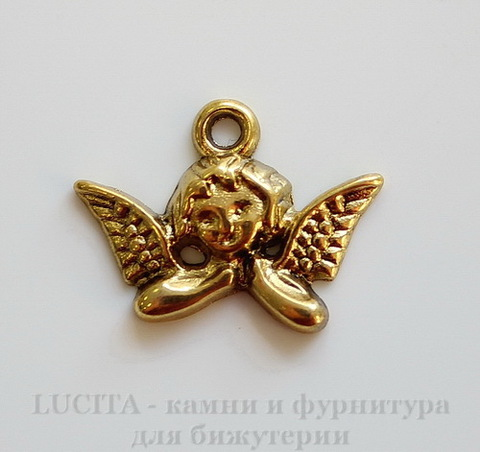 "Подвеска ""Ангел"" 20х15 мм (цвет - античное золото)"