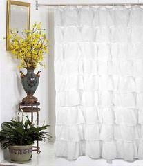 Элитная шторка для ванной Carmen белая от Carnation Home Fashions