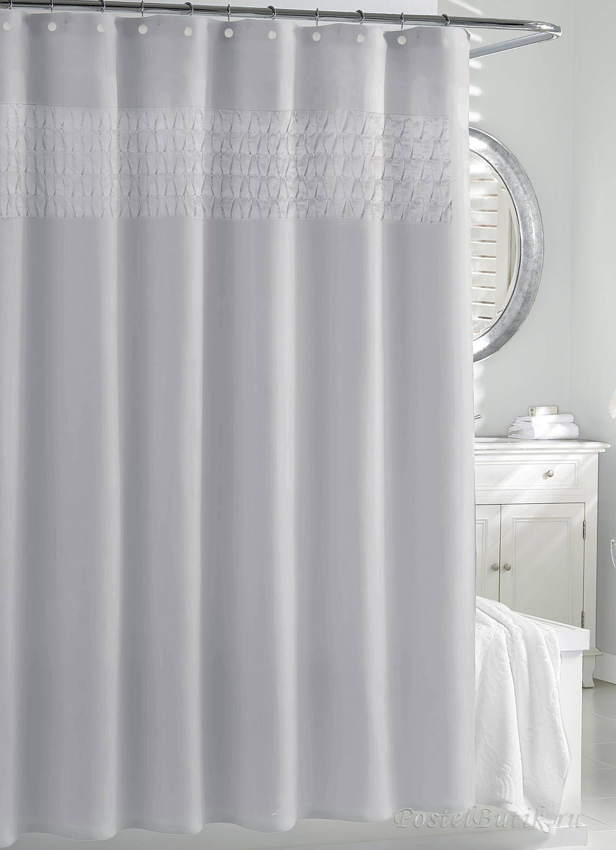 Шторки Элитная шторка для ванной Smock Pleat Silver от Kassatex elitnaya-shtorka-dlya-vannoy-smock-pleat-silver-ot-kassatex-portugaliya.jpeg