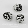 "Бусина TierraCast ""Роза"" 8х7 мм (цвет-античное серебро)"