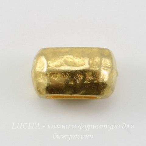 Бусина для шнура 6х2 мм TierraCast (цвет-золото) 10х6х6 мм