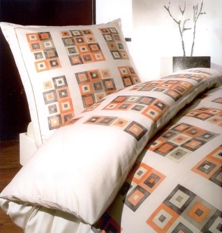 Элитный пододеяльник Mosaico персиковый от Elegante