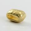 Бусина для шнура 6х2 мм TierraCast 10х6х6 мм (цвет-золото) ()