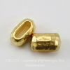 Бусина для шнура 6х2 мм TierraCast 10х6х6 мм (цвет-золото)