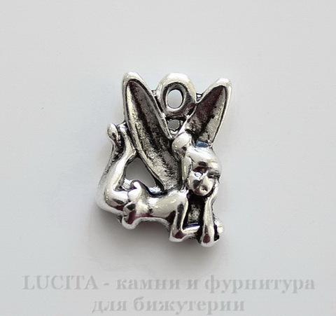 """Подвеска """"Феечка Динь-Динь"""" 16х13 мм (цвет - античное серебро)"""