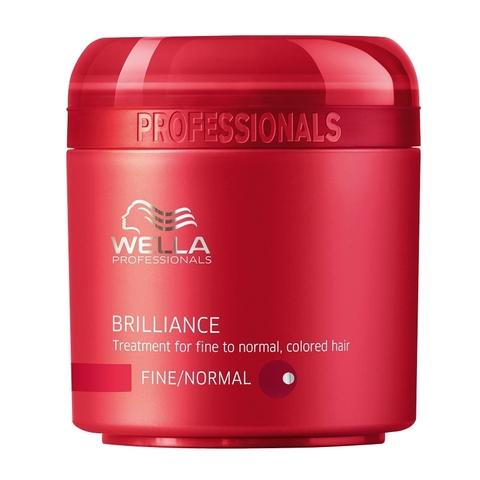Wella Care3 Крем-маска для окрашенных нормальных и тонких волос Brilliance treatment купить online