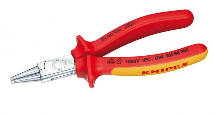Круглогубцы диэлектрические, 160 мм, KNIPEX 22 06 160 KN-2206160