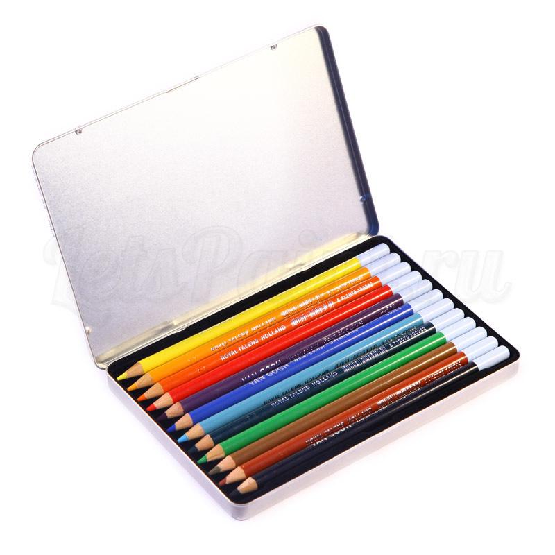 Набор из 12 акварельных карандашей Van Gogh