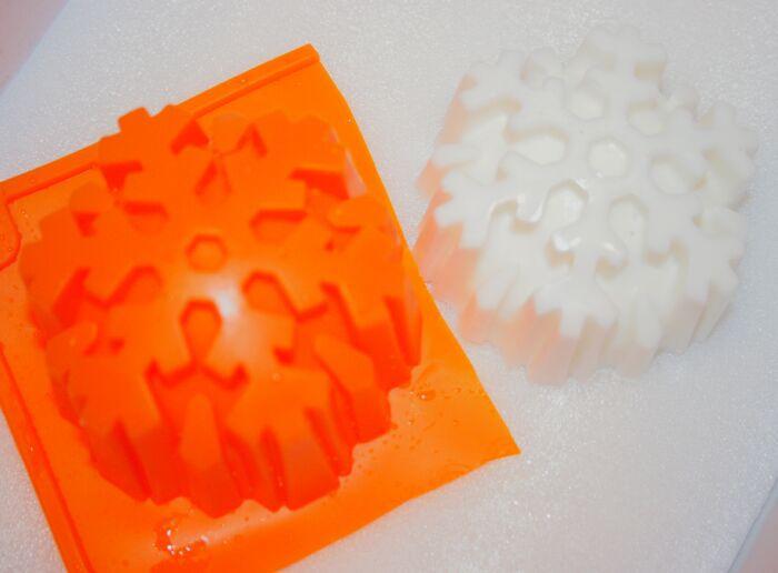 Снежинка №1 силиконовая форма