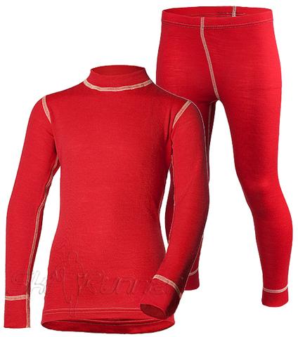 Комплект термобелья из шерсти мериноса Norveg Soft Red детский