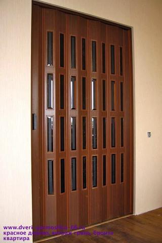 Фото межкомнатная дверь гармошка