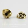 """Шапочка для бусины TierraCast """"Плющ"""" (цвет-античное золото) 7х4 мм ()"""