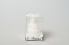 Свеча тортик белая 596348