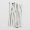 Винтажные пины - гвоздики 51х0,7 мм (оксид серебра), 10 штук