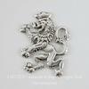 """Винтажный декоративный элемент - штамп """"Шотландский лев"""" 18х14 мм (оксид серебра)"""