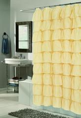 Элитная шторка для ванной Carmen золотая от Carnation Home Fashions