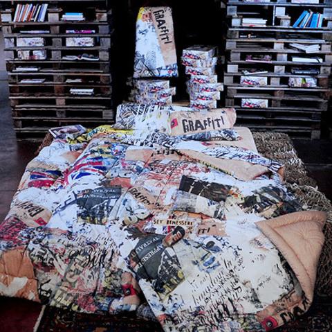 Постельное белье 2 спальное евро Besana Graffiti