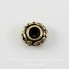 """Бусина - рондель TierraCast """"Цветочки"""" 6х3,5 мм (цвет-античное золото)"""