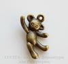 """Подвеска 3D """"Игрушечный медведь"""" 19х11 мм (цвет - античная бронза)"""